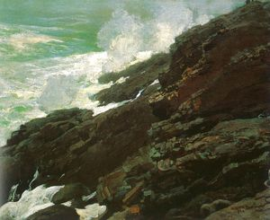 High Cliff, Coast of Maine, oil on canvas, Smith