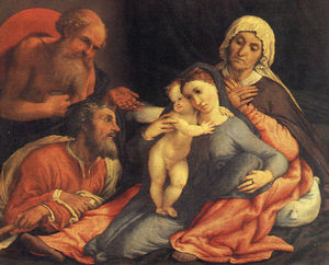 Madonna and child with saints, uffizi