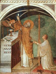 Miraculous Mass, approx. 1321, fresco, Lower Church