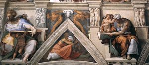 Ceiling of the Sistine Chapel detail3