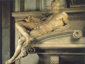 Tomb of Lorenzo de - Medici detail Twilight