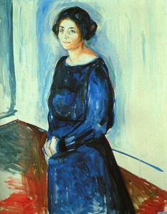 Kvinna i blått frau barth privat