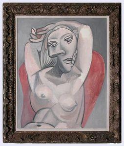 Femme au fauteuil rouge