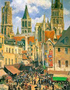 The Old Market at Rouen, The Metropolitan Mus