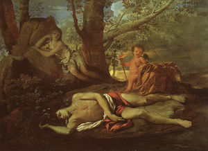 Echo and Narcissus, oil on canvas, Musée du Louvre,