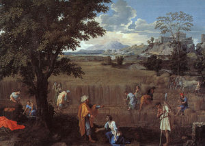 The Summer (Ruth and Boaz), oil on canvas,