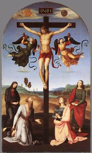 Crucifixion with Sts Mary Virgin, Mary Magdalen, John and Jerome