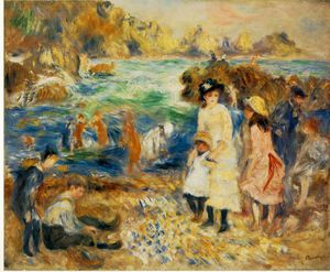 Beach Scene, Guernsey (Enfants au bord de la mer a Gu