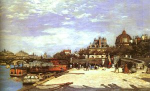 The Pont des Arts, Paris, oil on canvas, Norton