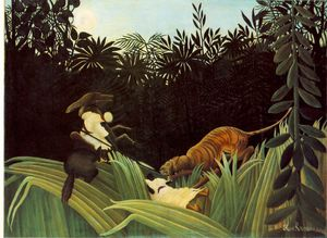 Scout Attacked by a Tiger (Eclaireur attaque par