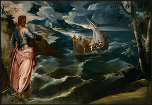 Christ at the sea of galilee, c. ngw