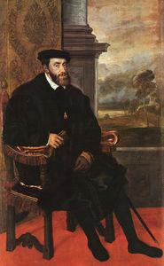 Charles v seated, oil on canvas, pinakothek at