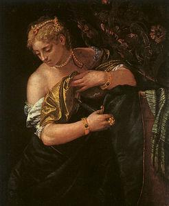 Lucretia stabbing herself, art history mus