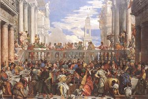The marriage at cana, louvre