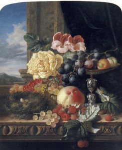 Still Life with Fruit, Flowers and a Bird's Nest