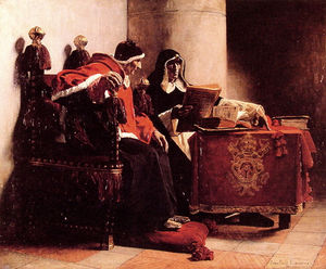 The Pope and the Inquisitor, known as Sixtus IV and Torquema