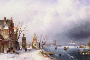A sunlit winter landscape