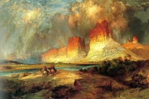 Скалы Верхней реки Колорадо штат Вайоминг  территории