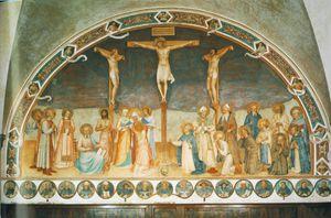 crucifixion et saints