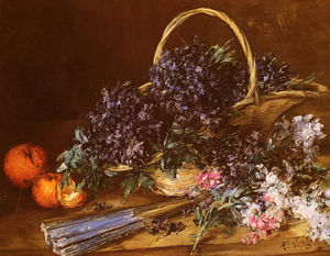 A Still Life with a Basket of Flowers