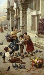 Feeding the Pigeons at Piazza St. Marco - Venice