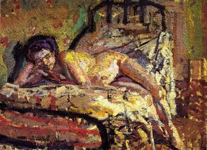 The Model (also known as Reclining Nude)-