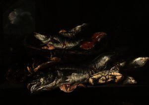 Still Life - Haddock, Plaice, Crabs and Lobster