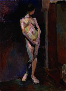Nude Study in Blue