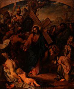 Christ bearing his cross