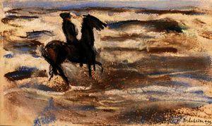 A rider on the beach