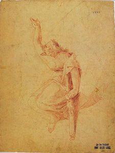 Greiser, wreathed singer with harp