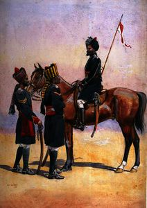 Soldiers of the 33rd Queen's Own Light Cavalry
