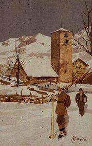 A view of Adelboden, Switzerland