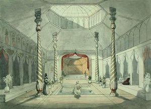 Interior of a Persian bath at Kermanshah