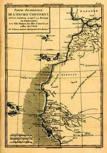West Coast of Africa, from Lisbon to Sierra Leone, from 'Atlas de Toutes les Parties Connues du Glob