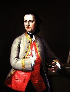 肖像画 の  若い  男