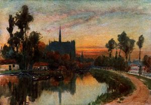 Evening on the Somme at Amiens
