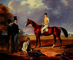 Dr. Fothergill Rowlands of Nantyglo on Tom Llewelyn Brewer's Horse