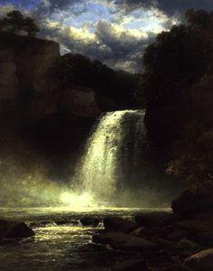 A waterfall scene