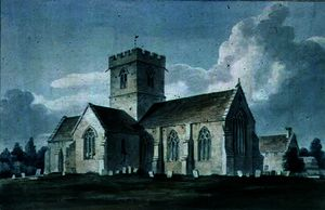 South-east View of Dinton Church,