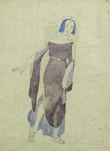 Ein kostüme für tamara pavlovna karsavina - engel