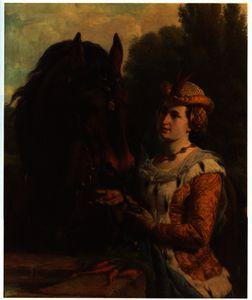 Jacoba van Beieren with her horse