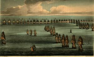 Commencement of the Battle of Trafalgar,