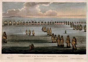 Inizio del Battaglia di Trafalgar