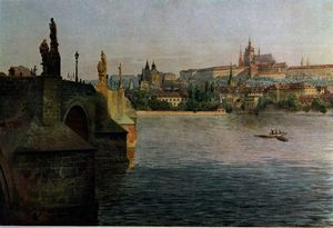 View of the Charles Bridge from Krizovnicka