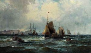 Shipping in the channel off the south coast