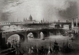 London, Southwark and Blackfriars bridges over