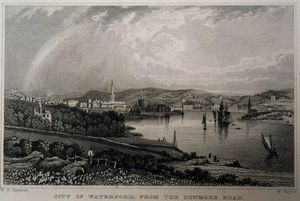 View of Waterford from The Dunmore Road