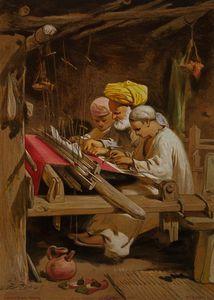 Cashmere shawls - weaving