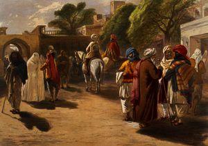 Peshawar market scene